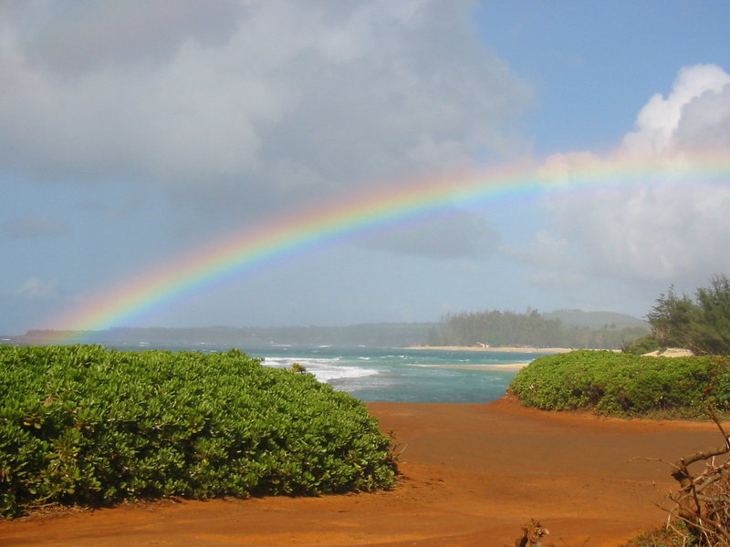 Rock Climbing Photo: The end of the rainbow!  The launch at Secret's