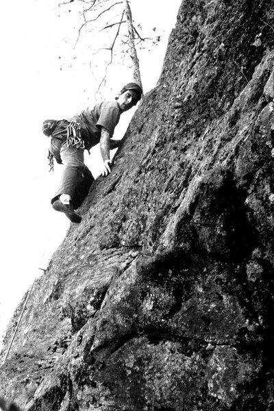 Rock Climbing Photo: Me climbing the fun low angle moves... great stuff...