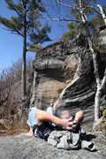 Rock Climbing Photo: Jakob cillin out after climbing the prawn... short...