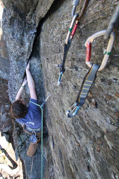 Rock Climbing Photo: Isaac jammin