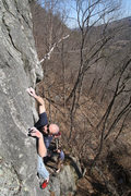 Rock Climbing Photo: Jakob workin out the crux...