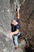 Rock Climbing Photo: this is where the hand holds seem to run out.... t...