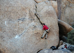 "Rock Climbing Photo: The late Tom Burke on the FA of ""Burke's Solo..."