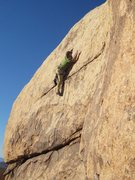 Rock Climbing Photo: Bob Gaines leading Out of Order on the first ascen...