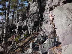 Rock Climbing Photo: Just before the pop to the top.  A fall from the p...