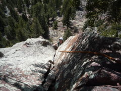 Rock Climbing Photo: Below the thin hands crack near the top of the sec...