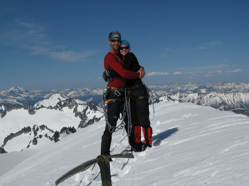 Rock Climbing Photo: Tara and I on Eldorado summit: 5-31-07. Check out ...