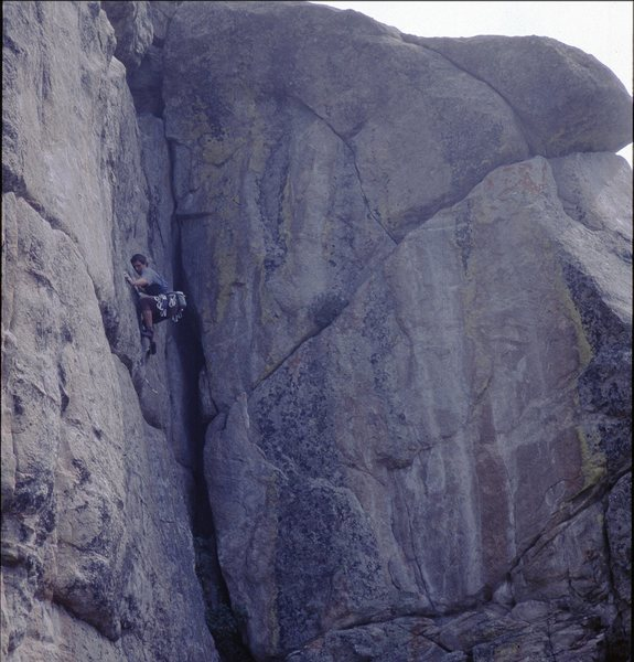 "Rock was really happy about sending this one-  ""Mercy Drilling"", Boulder Canyon, Sept., 2001."