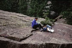"Rock Climbing Photo: A great hang spot beneath ""Discipline"", ..."