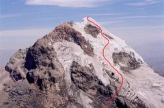 Rock Climbing Photo: Red Line is the Normal Route