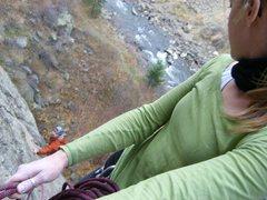 Rock Climbing Photo: Adam at the start....