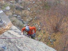 Rock Climbing Photo: Adam and my animal crackers :)