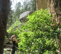 Rock Climbing Photo: Route hunting in Piney Creek Canyon
