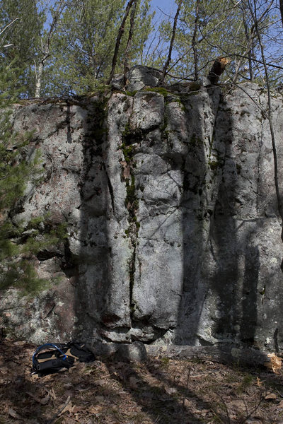 Rock Climbing Photo: Some features at the North East end of the South a...