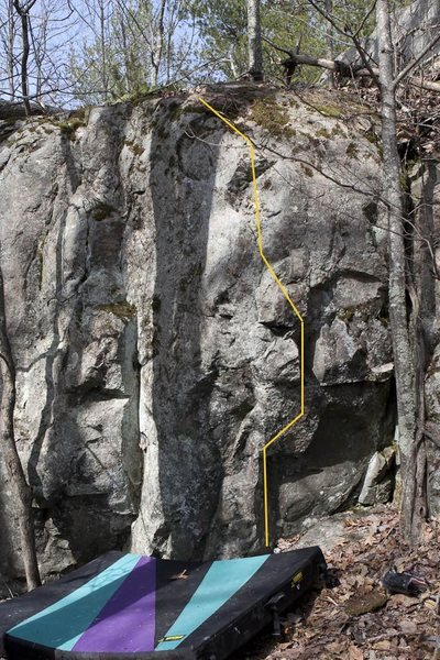 Rock Climbing Photo: CamelBak. North East end of MBA South area.