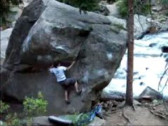 Rock Climbing Photo: BC on the V1.