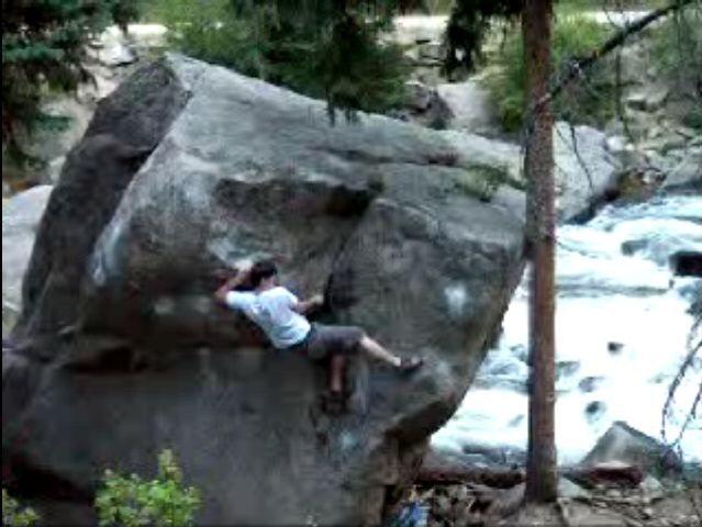 Rock Climbing Photo: Set up to hit the top lip.