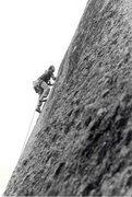 Rock Climbing Photo: Gravitron, FA, James Crump, 5.11 R, 1981, Enchante...