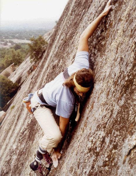 Rock Climbing Photo: Texas Radio, FA James Crump, 5.11 R, 1981, Enchant...