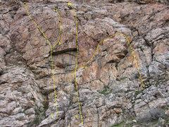Rock Climbing Photo: Ramp Routes - South  E. Catharsis 5.9 F. Alienatio...