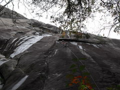 Rock Climbing Photo: Tony on pitch one.