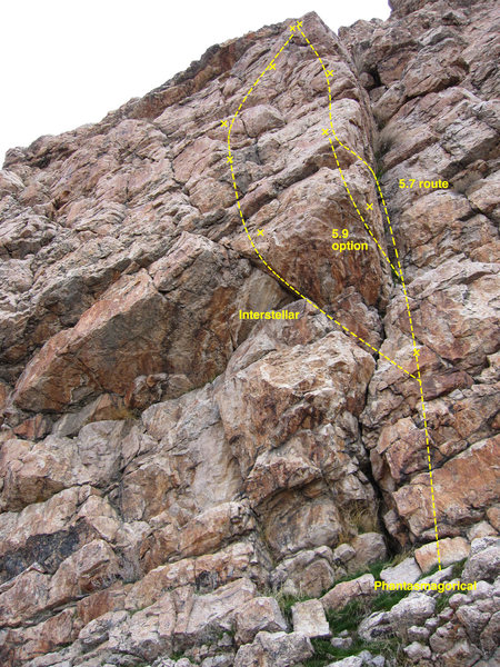 Rock Climbing Photo: A view of the arete on this fun climb. Note also I...