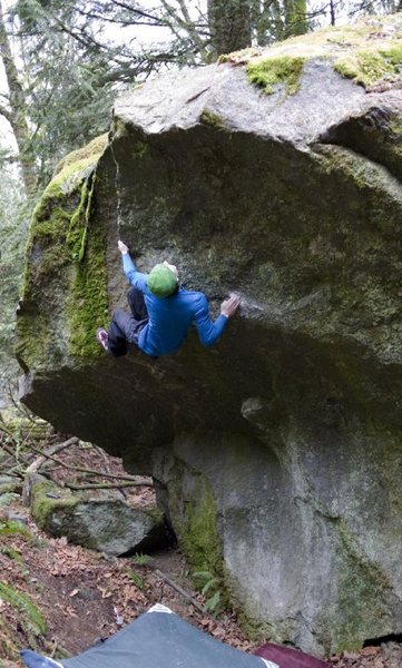 Rock Climbing Photo: Marc-Andre flowing through the moves