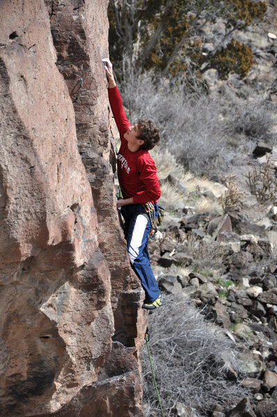 Rock Climbing Photo: On the lower part of the route. March 2010.