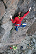 Rock Climbing Photo: After the roof the climbing gets a bit wide but th...