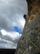Rock Climbing Photo: 2nd pitch of Pilier de Nugues.