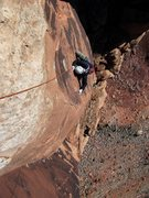 Rock Climbing Photo: Dean is following the exciting face pitch on Easte...