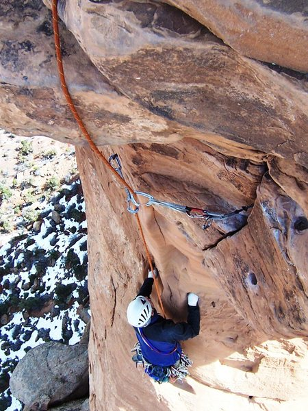 Rock Climbing Photo: Dean is following the crux summit pitch on Otto's ...