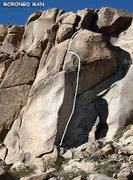 "Rock Climbing Photo: ""Morongo Man"". Photo by Blitzo."