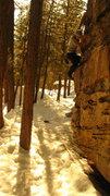 Rock Climbing Photo: Warm-up boulder.