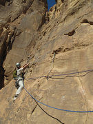 Rock Climbing Photo: Wondrland (5.10c, TD sup.), Wadi Rum, Jordan.