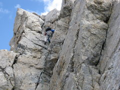 Rock Climbing Photo: Going to work on the phenomenal V-Pitch. What a gr...