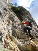 Rock Climbing Photo: Matt on p4 of Pilier de Nugues