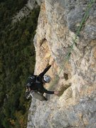 Rock Climbing Photo: Jon gets some p5 on him on Pilier de Nugues