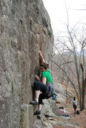 Rock Climbing Photo: Leading my first 5.9! :)