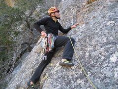 Rock Climbing Photo: Shay Harnoy on the first ascent.