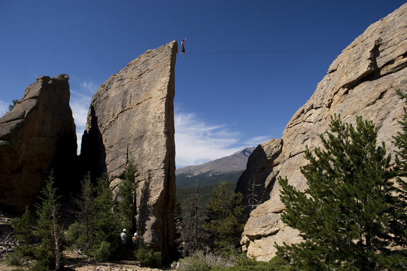 Rock Climbing Photo: Edge of Time Highline!