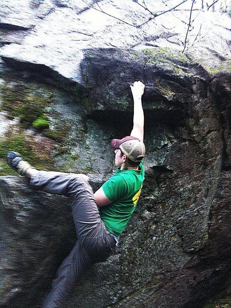 Rock Climbing Photo: josh kinkead on crop duster v1