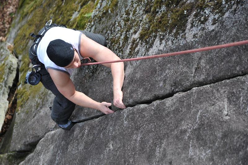 Rock Climbing Photo: Chris TR'ing Shark Tooth Flake