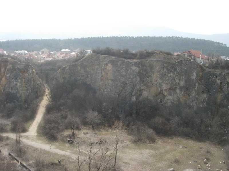Nagy Fal at Róka Hegy, as seen from the top of Kis Fal.
