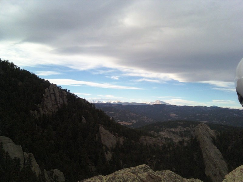 From the top of the 3rd, did the east face left. Amazingly devoid of climbers for such a popular area.  Sweet climbing!