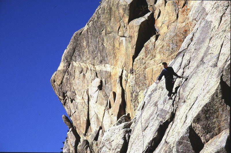Rock Climbing Photo: Blob Rock, Jan., 2000.