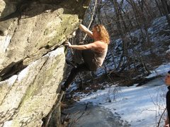 Rock Climbing Photo: lincoln woods feb 2010