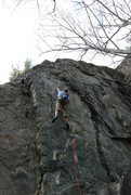 Rock Climbing Photo: Erik on the crux move.