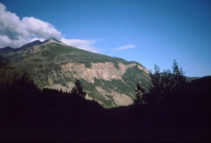 Rock Climbing Photo: View from CO Hwy 145, circa 1986.