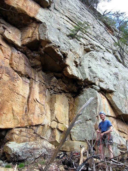 Rock Climbing Photo: Denmark racks up to lead Step Right Up.